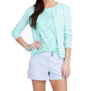Vineyard Vines White Casey Button-Up Cardigan